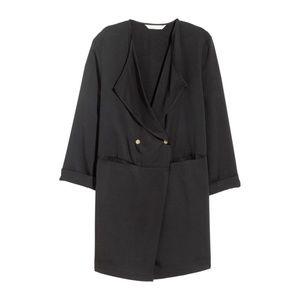H&M 🆕 Double-breasted Black Short Jacket Blazer 6